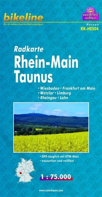 Bikeline Radkarte Deutschland Rhein-Main Taunus 1 : 75 000 als Blätter und Karten