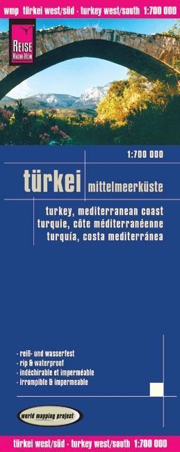 Reise Know-How Landkarte Türkei - Mittelmeerküste 1 : 700 000 als Blätter und Karten