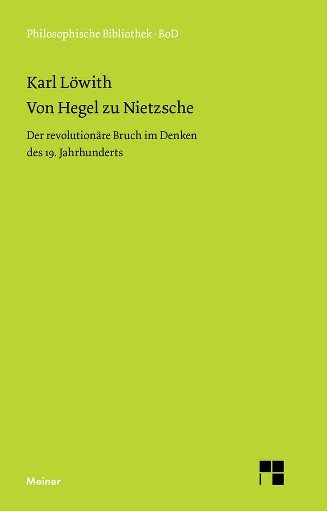Von Hegel zu Nietzsche als eBook pdf