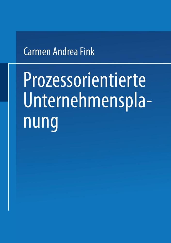 Prozessorientierte Unternehmensplanung als Buch (kartoniert)
