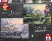 Thomas Kinkade, Lamplight Manour/Winter in Lamplight Manour. Puzzle 2 x 1.000 Teile
