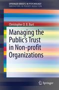 Managing the Public's Trust in Non-profit Organizations