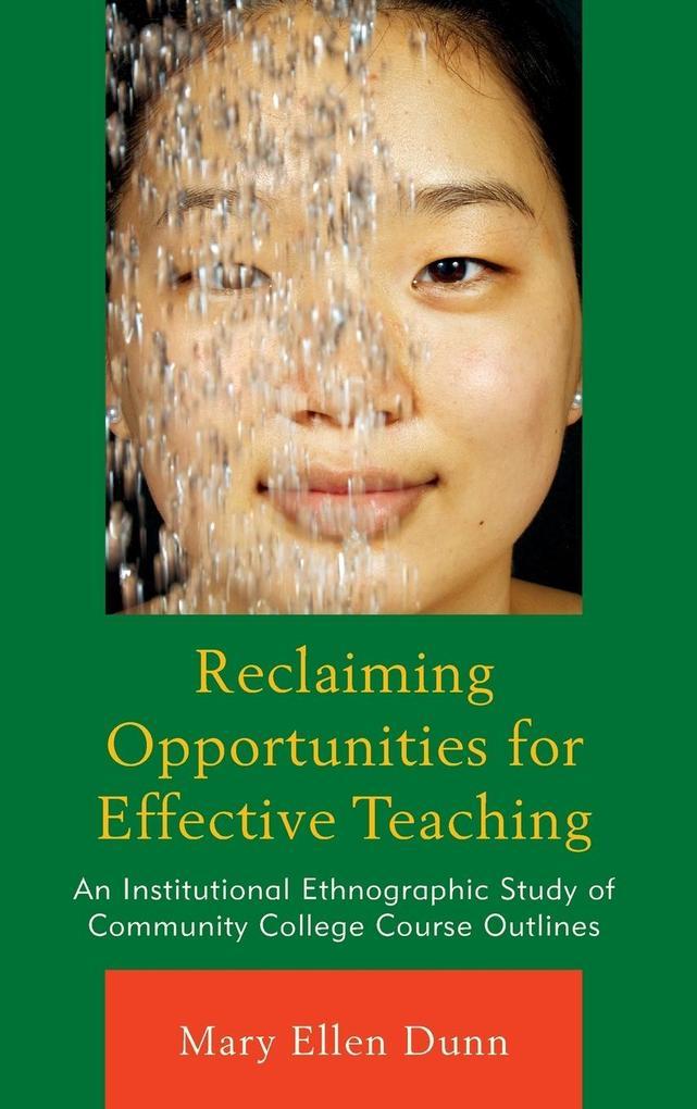 Reclaiming Opportunities for Effective Teaching als Buch (gebunden)