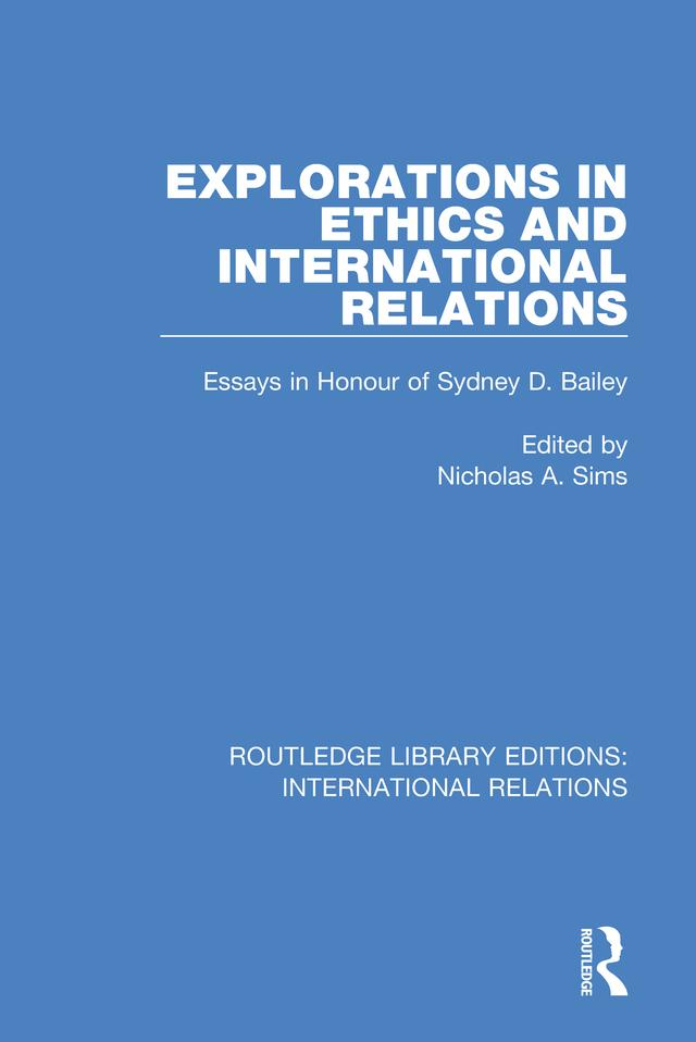 Explorations in Ethics and International Relations als eBook pdf