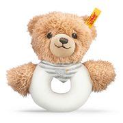 Steiff - Schlaf-gut-Bär Greifring mit Rassel, grau, 12cm