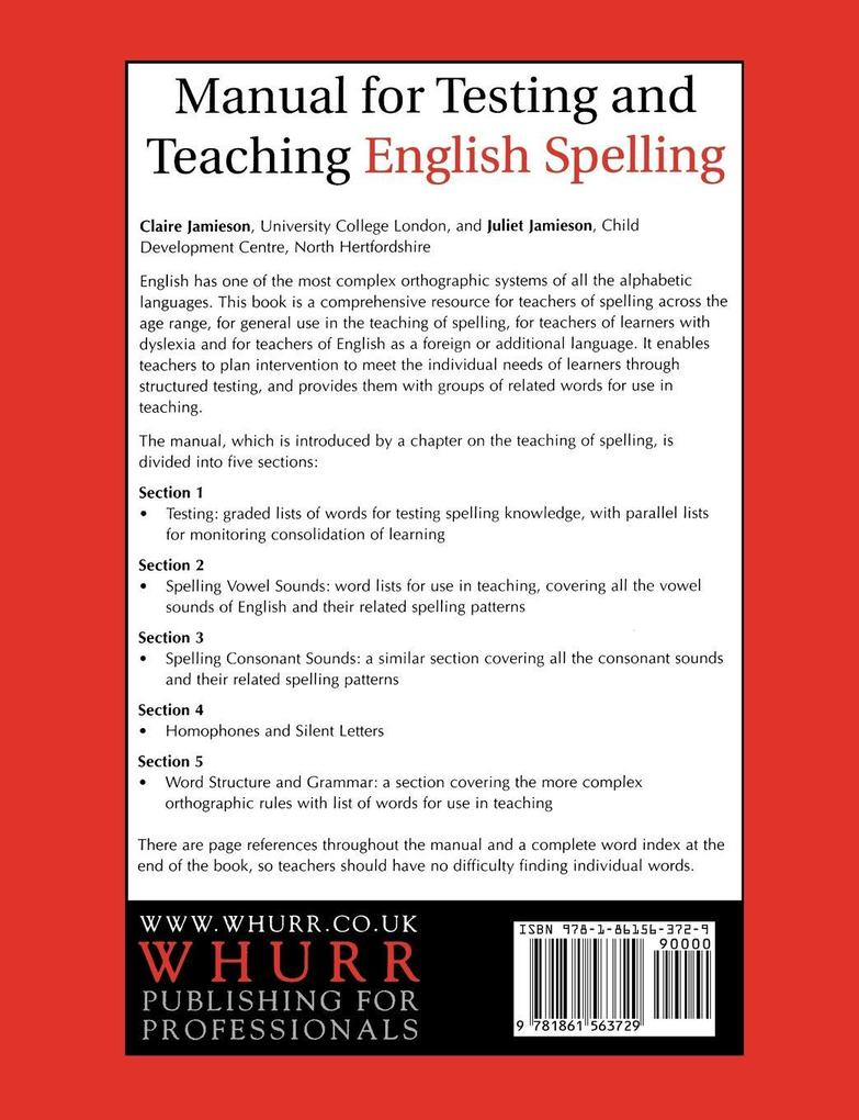 Manual for Testing and Teaching English als Taschenbuch