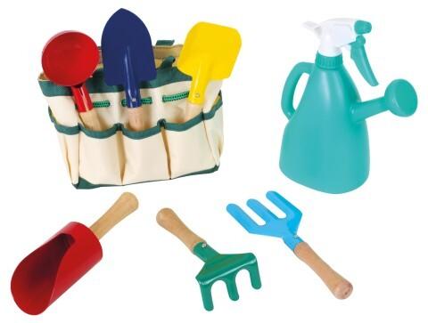 Gartengeräte-Set mit Tasche als Spielware
