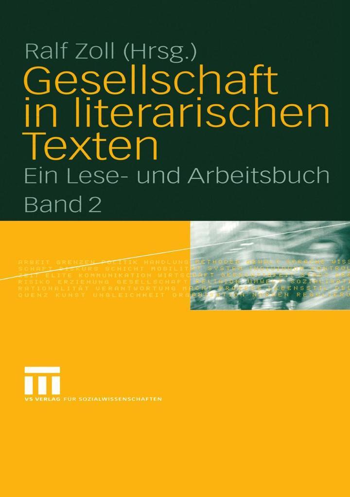 Gesellschaft in literarischen Texten als eBook pdf