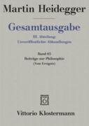 Gesamtausgabe Abt. 3 Unveröffentliche Abhandlungen Bd. 65. Beiträge zur Philosophie