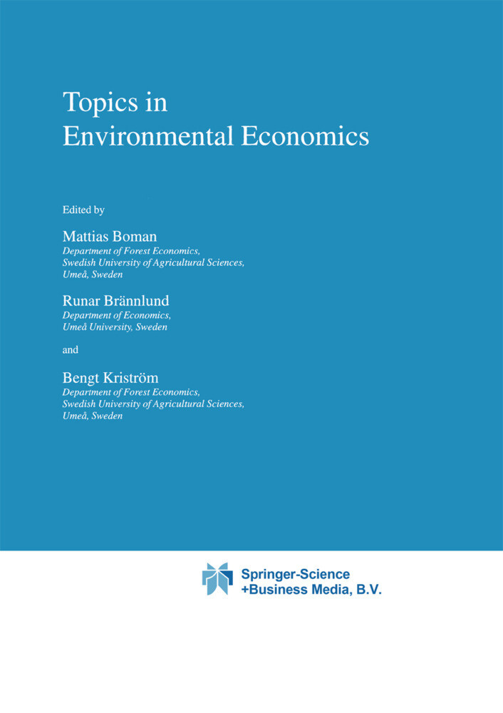 Topics in Environmental Economics als Buch (gebunden)