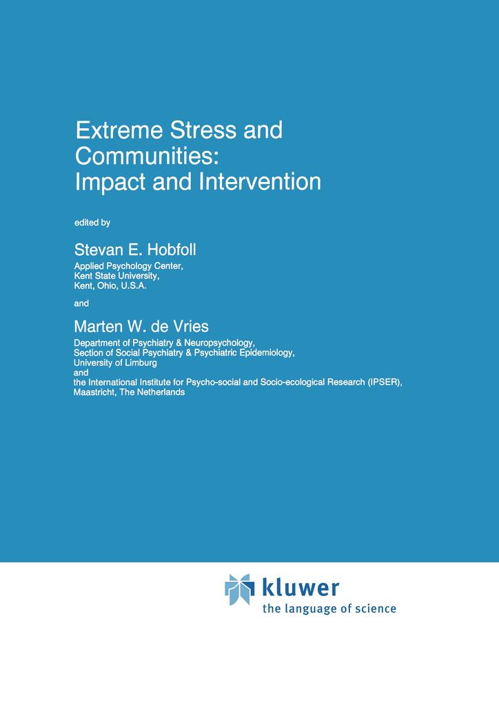 Extreme Stress and Communities: Impact and Intervention als Buch (gebunden)
