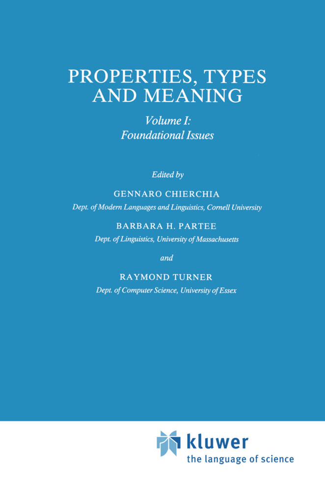 Properties, Types and Meaning als Buch (gebunden)