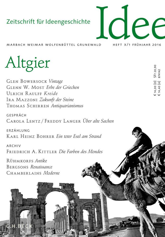 Zeitschrift für Ideengeschichte. H.10/1 als Buch