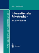 Internationales Privatrecht - Art. 3-46 EGBGB