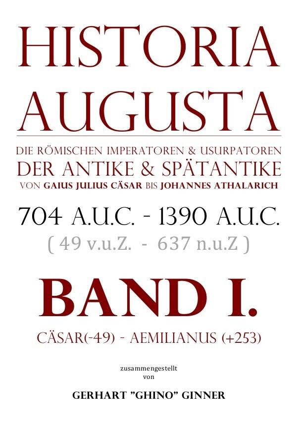 HISTORIA AUGUSTA Band I. als Buch (kartoniert)