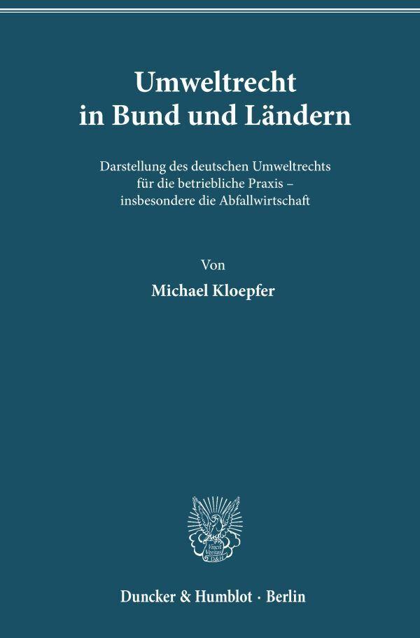 Umweltrecht in Bund und Ländern als Buch (gebunden)