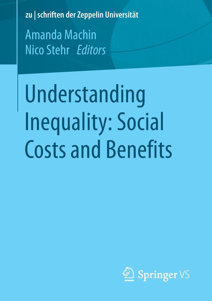 Understanding Inequality: Social Costs and Benefits als Buch (kartoniert)