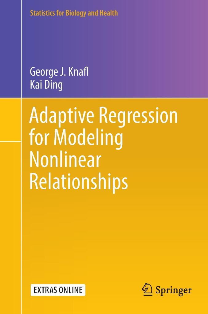 Adaptive Regression for Modeling Nonlinear Relationships als Buch (gebunden)