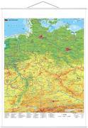 Deutschland physisch 1 : 750 000. Wandkarte mit Metallbeleistung
