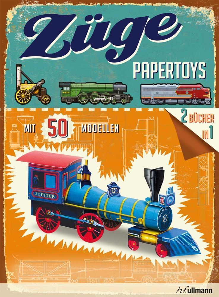Papertoys: Züge als Buch (kartoniert)