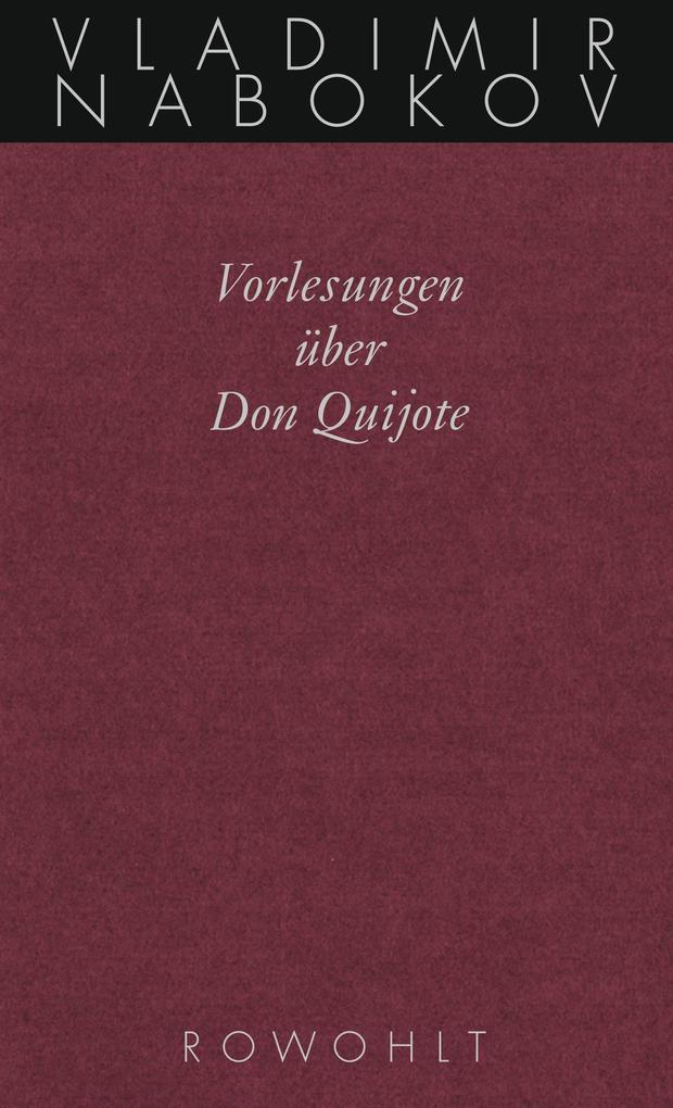 Vorlesungen über Don Quijote als Buch (gebunden)