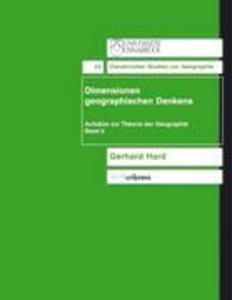 Dimensionen geographischen denkens als Buch (kartoniert)
