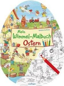 Mein Wimmel-Malbuch - Ostern als Buch (geheftet)