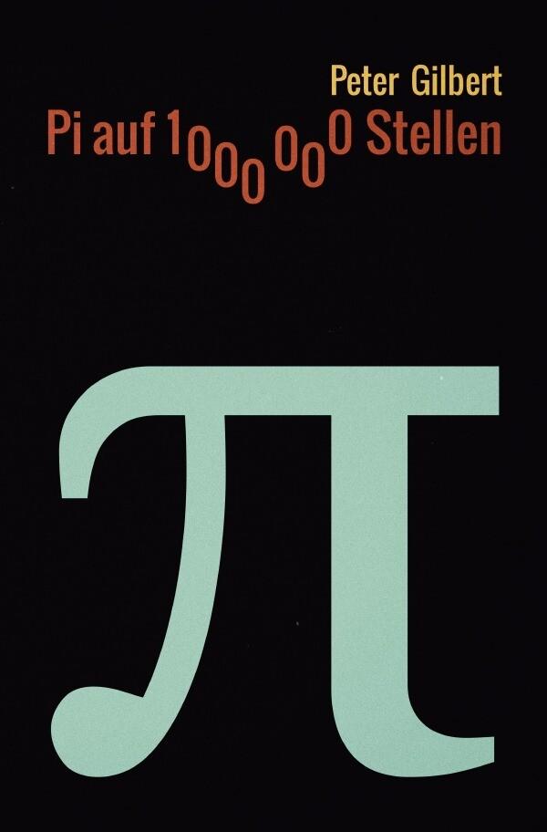 Pi auf 1000000 Stellen als Buch (kartoniert)