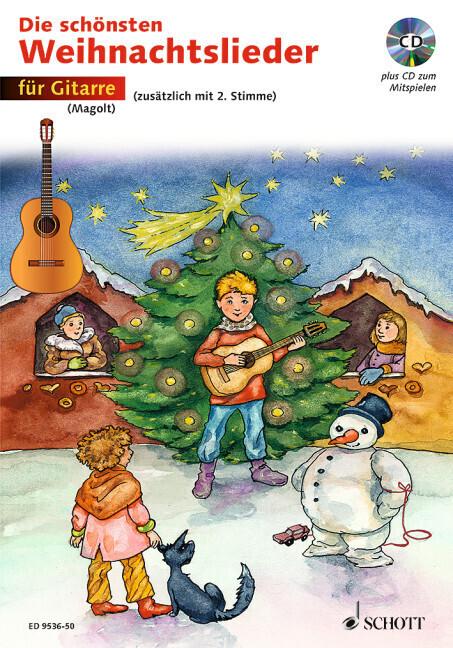 Die schönsten Weihnachtslieder für Gitarre. Mit CD als Buch (kartoniert)