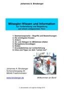 Mitsegler-Wissen und Information