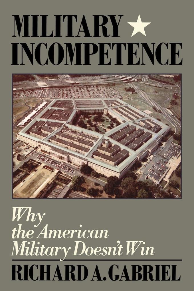 Military Incompetence als Taschenbuch