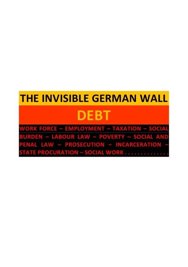 THE INVISIBLE GERMAN WALL: DEBT als Buch (kartoniert)