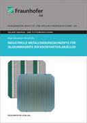 Industrielle Metallisierungskonzepte für siliziumbasierte Rückkontaktsolarzellen