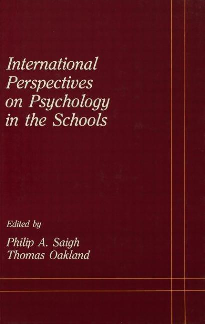 International Perspectives on Psychology in the Schools als Buch (gebunden)