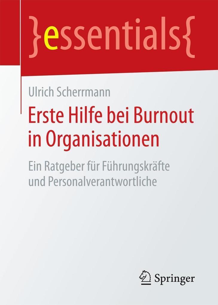 Erste Hilfe bei Burnout in Organisationen als eBook pdf
