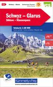 KuF Schweiz Radkarte 12 Schwyz - Glarus 1 : 60 000