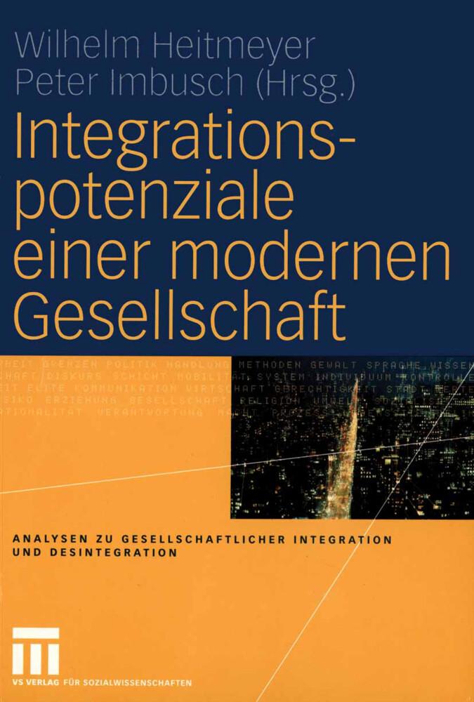 Integrationspotenziale einer modernen Gesellschaft als Buch (gebunden)