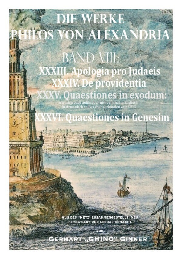 Die Werke Philos von Alexandria Band VIII. als Buch (kartoniert)
