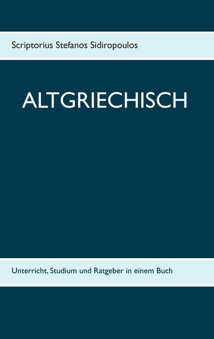 Altgriechisch als Buch (kartoniert)