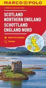 MARCO POLO Karte Großbritannien Schottland, England Nord 1:300 000
