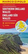 MARCO POLO Karte Großbritannien England Süd, Wales 1:300 000