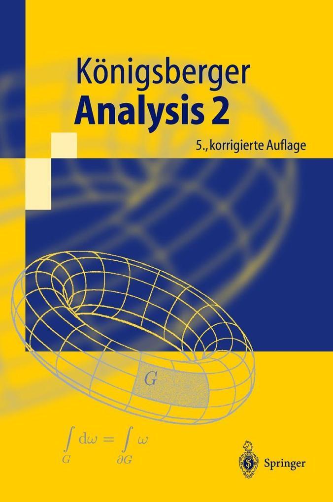 Analysis 2 als Buch (kartoniert)