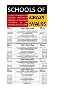 SCHOOLS OF CRAZY WALKS