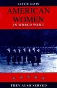 American Women in World War I als Buch (gebunden)