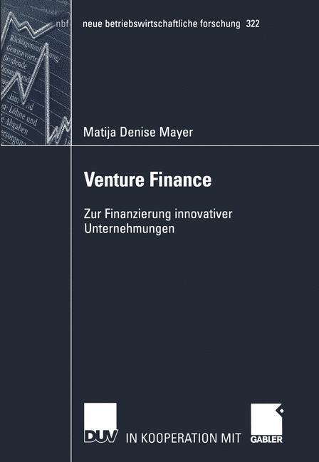 Venture Finance als Buch (gebunden)