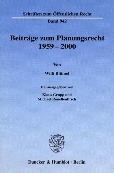 Beiträge zum Planungsrecht 1959-2000. als Buch (gebunden)