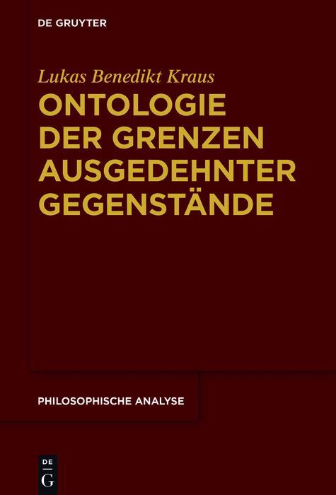 Ontologie der Grenzen ausgedehnter Gegenstände als eBook pdf
