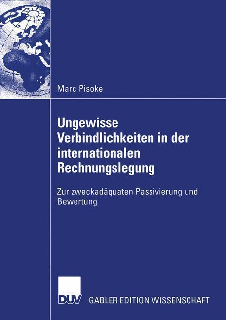 Ungewisse Verbindlichkeiten in der internationalen Rechnungslegung als Buch (kartoniert)