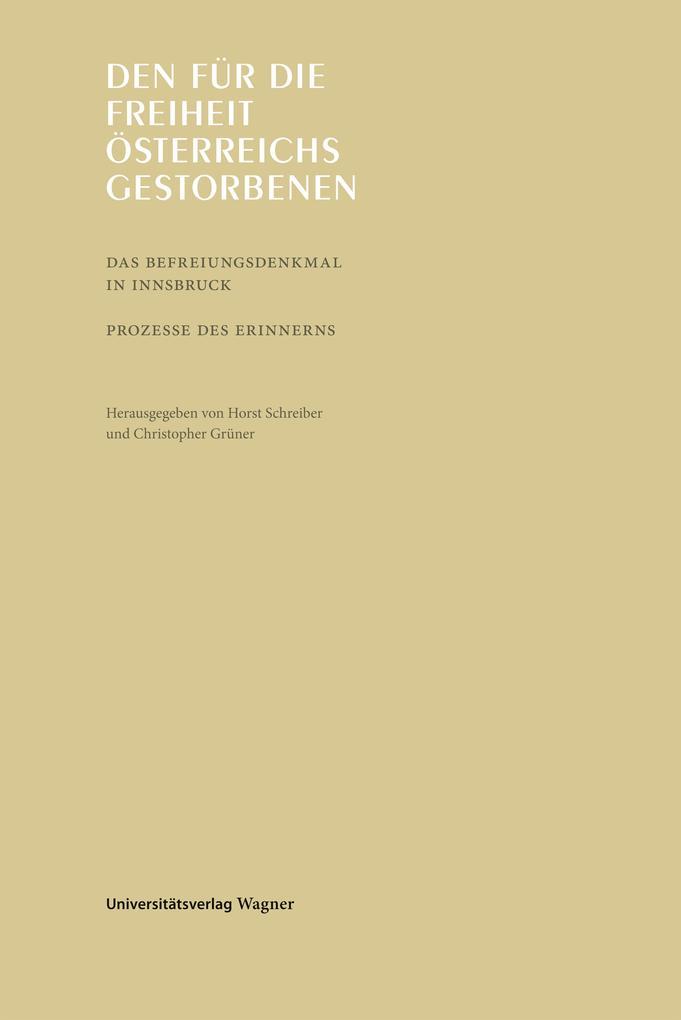 Den für die Freiheit Österreichs gestorbenen als eBook epub