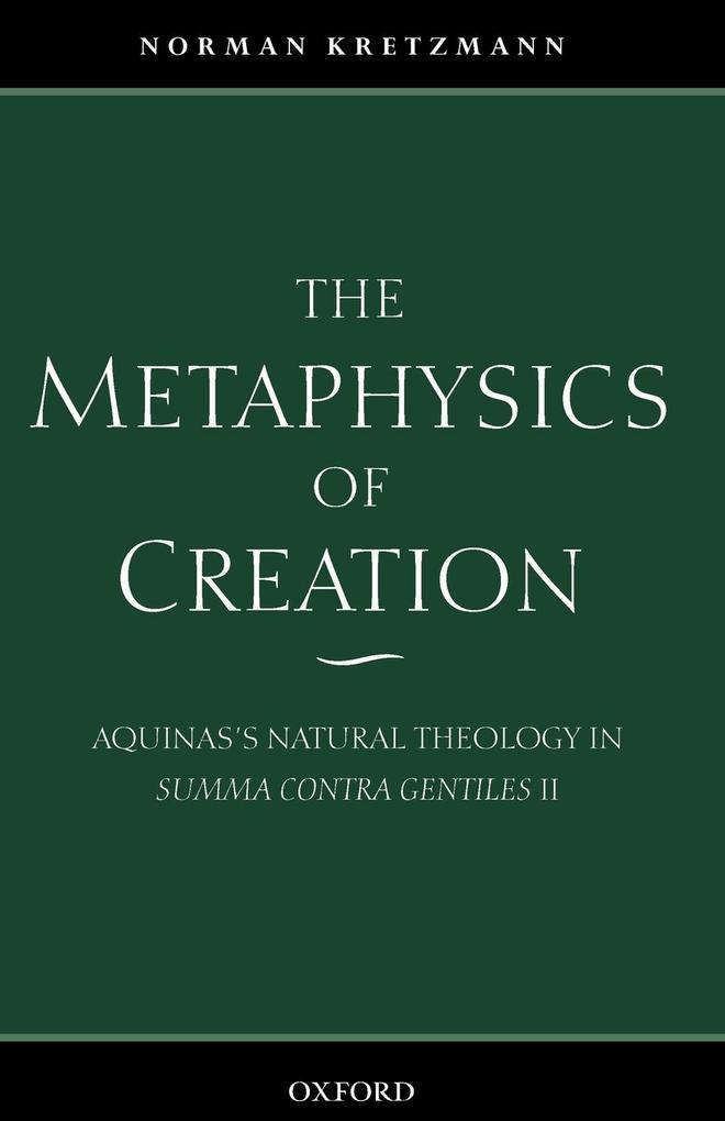 The Metaphysics of Creation als Buch (kartoniert)